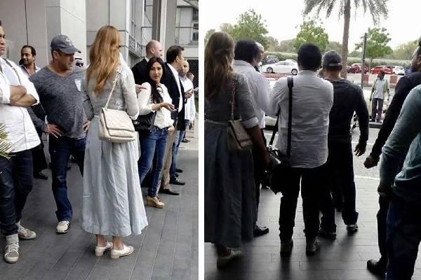 Iulia si Salman Kahn au fost recunoscuţi de un fan al indianului.