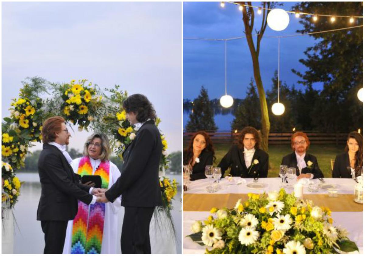 """Ceremonia cuplului Daniel-Mihai a stârnit valuri de gelozie, în urmă cu trei ani, din partea tuturor mireselor din emisiunea """"Patru nunţi şi-o provocare"""""""