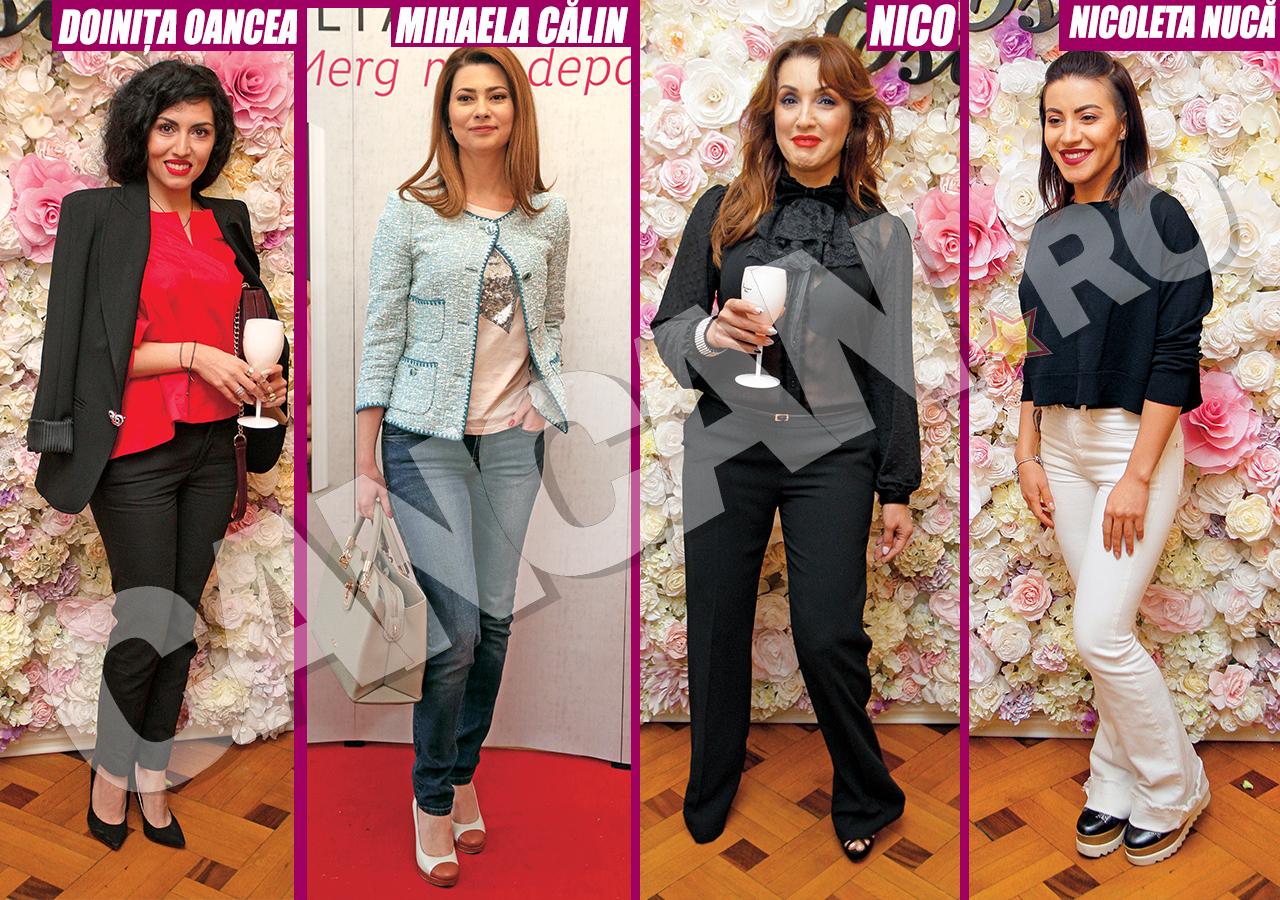 Doiniţa Oancea, Mihaela Călin, Nico şi Nicoleta Nucă s-au prezentat la un eveniment în pantaloni.