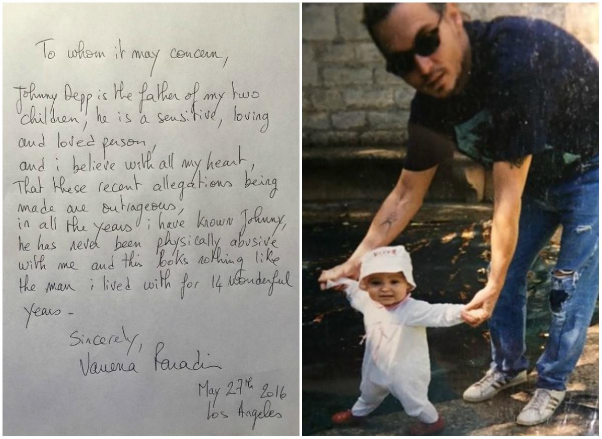 Atât fosta soţie, cât şi fiica actorului Johnny Depp îi iau acestuia apărarea: Vanessa Paradis a scris o scrisoare, iar Lily-Rose Depp a postat o fotografie cu ea şi tatăl ei, în semn de susţinere