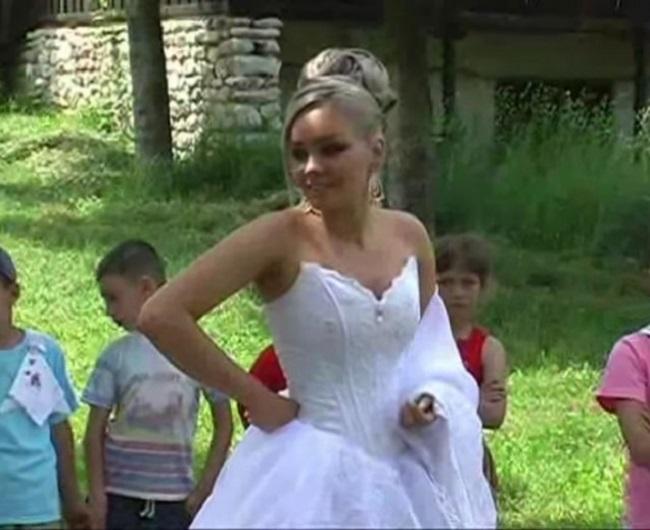 Aşa a arătat Maria Constantin la prima ei nuntă.
