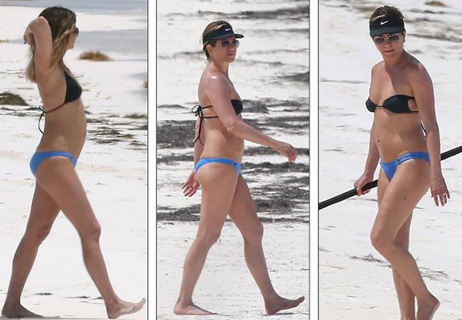 Jennifer Aniston a mers cu soţul ei în Bahamas.