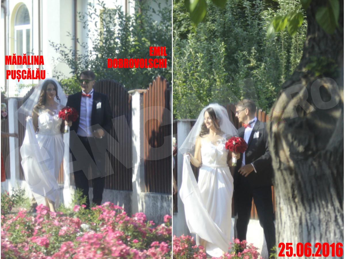 Mădălina Puşcălău a îmbrăcat rochia de mireasă pentru a doua oară în după-amiaza de sâmbătă