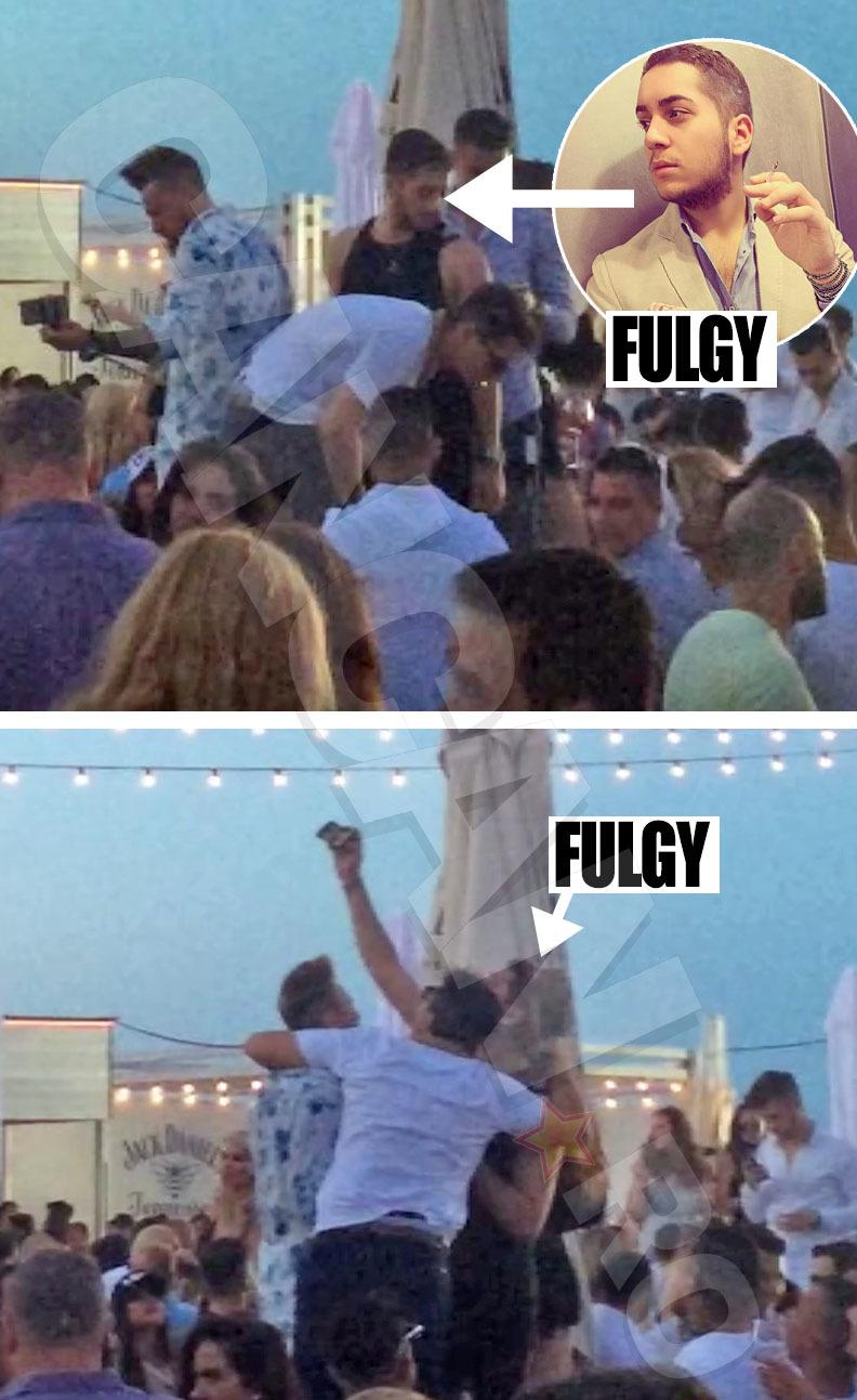 Fulgy s-a distrat în Loft, alături de câţiva prieteni, cu care s-a întâlnit în club
