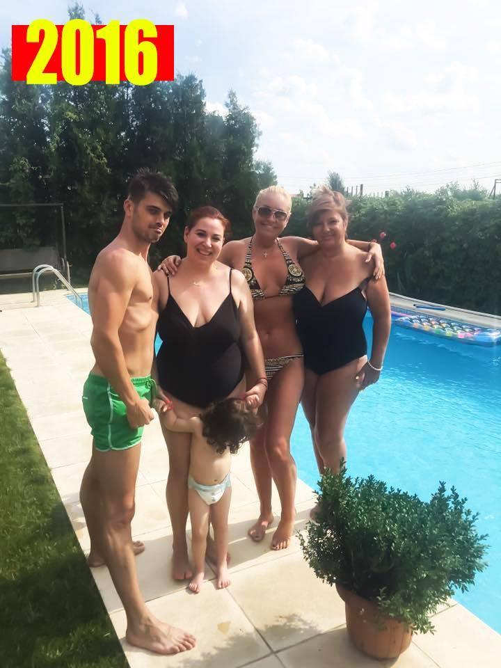 Oana Roman a mers recent la piscină cu familia ei şi Vica Blochina.