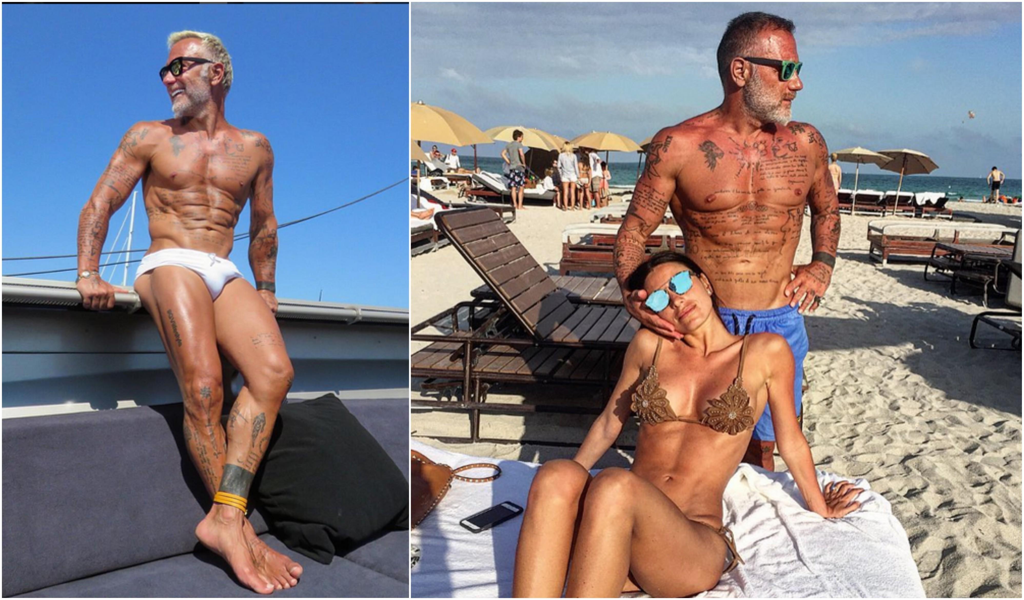 Gianluca face furori cu trupul său demenţial, dar şi cu pozele în care apare alături de frumoasa lui soţie.