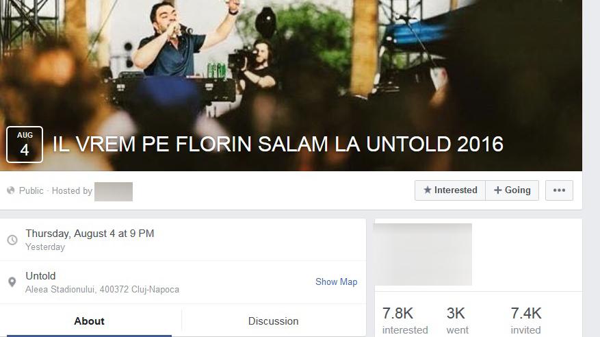 Internauţii au creat un grup destinat celor care îşi doresc să vină Florin Salam la festivalul UNTOLD.