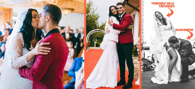 Nunta lui Demeter cu Ana Maria Rusu a fost una de vis!
