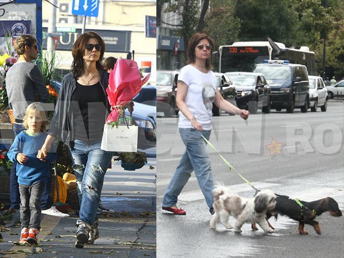 """Oana Sârbu are grijă de trei """"copilaşi"""": băiatul ei, Alexandru, şi doi câini."""