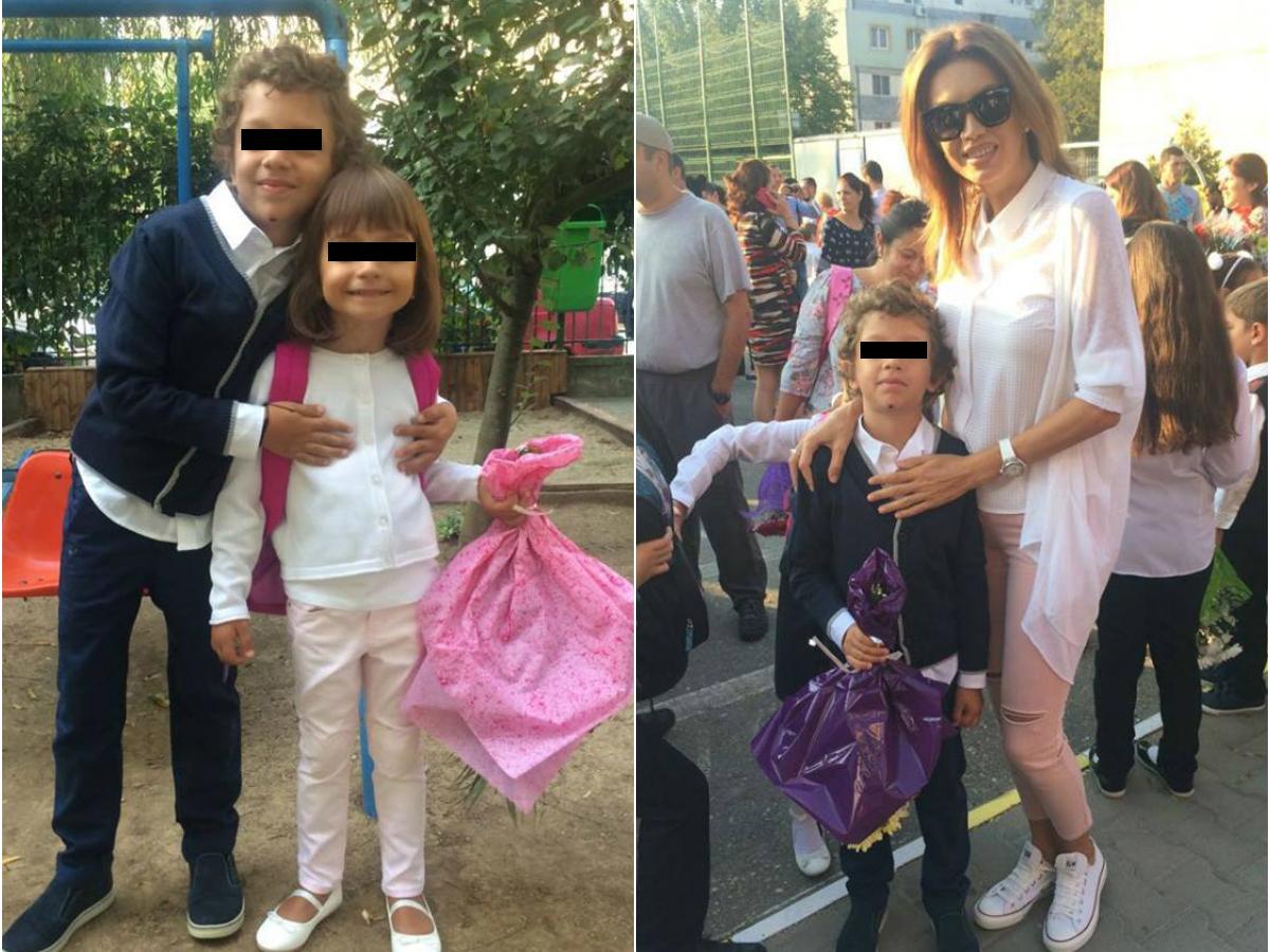 Cristina Spătar a avut mari emoţii în prima zi de şcoală a micuţilor ei