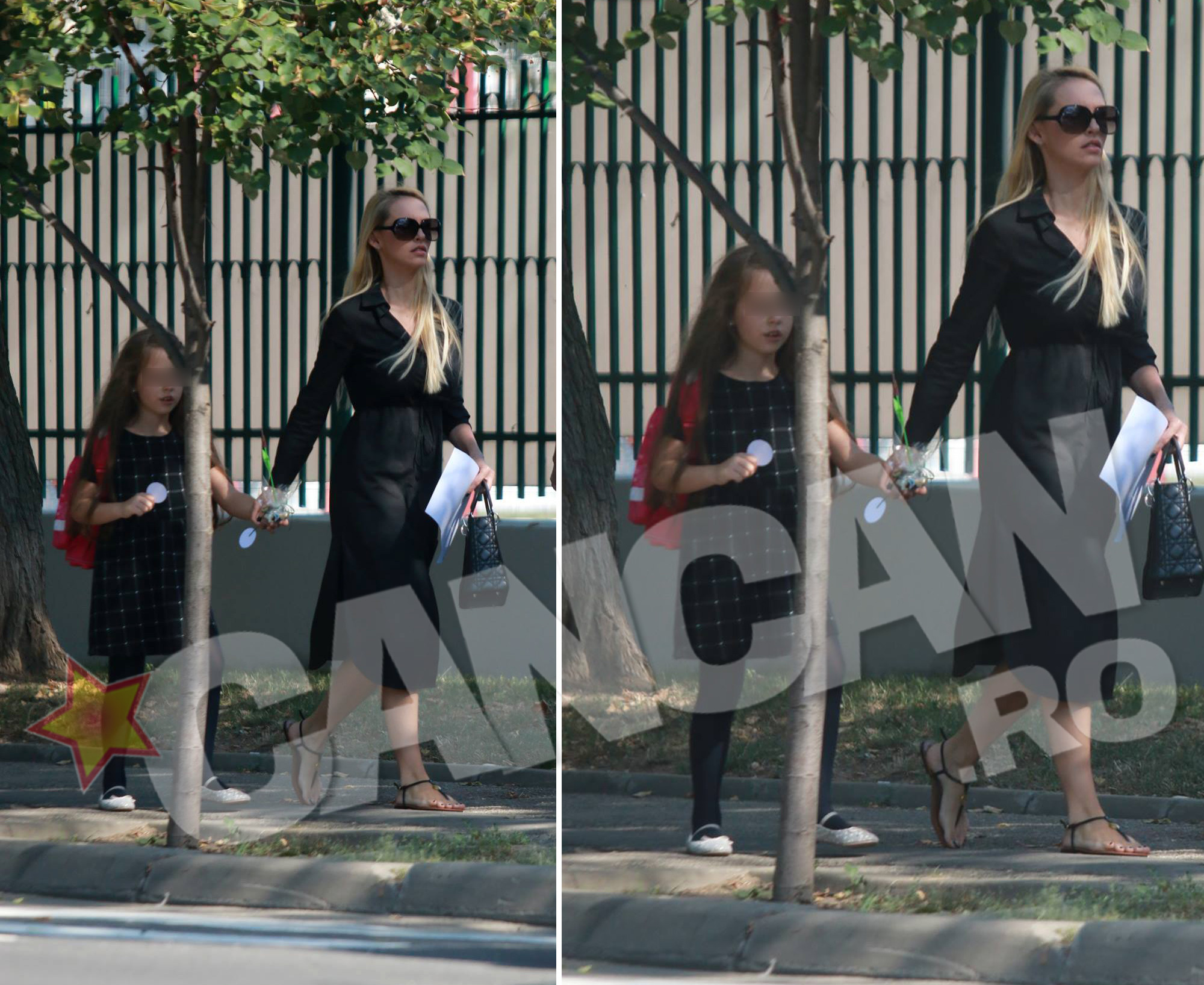Andreea Spătaru şi-a însoţit fiica în prima zi de şcoală