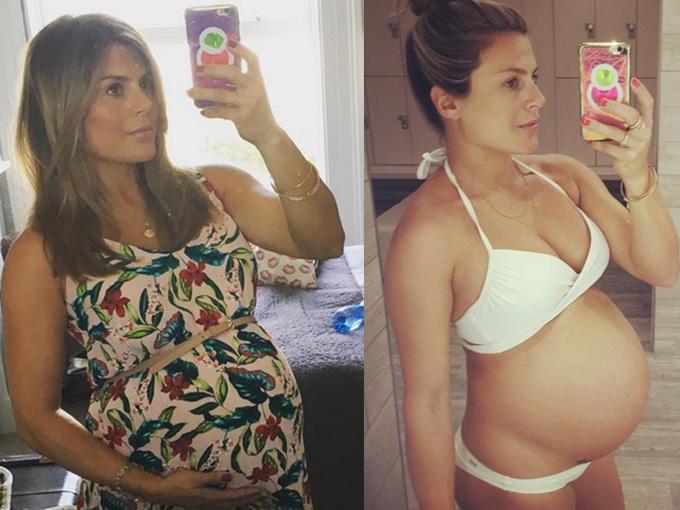 Aşa arăta Zoe Hardman când era gravidă.