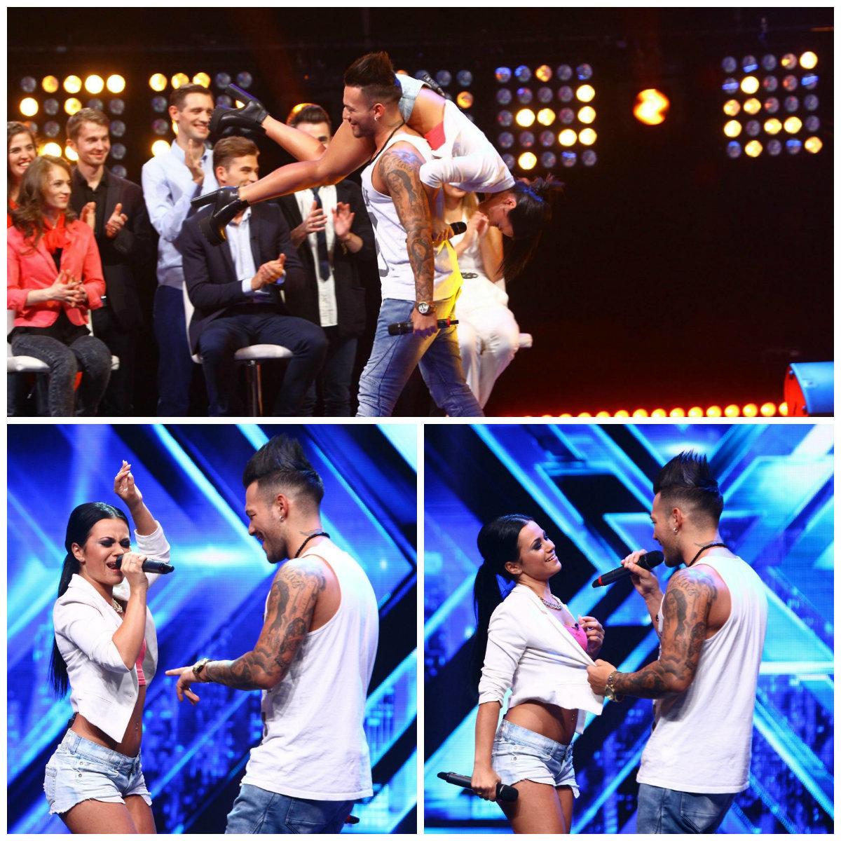 """Deea a cântat la """"X Factor"""" alături de un tânăr pe nume George."""