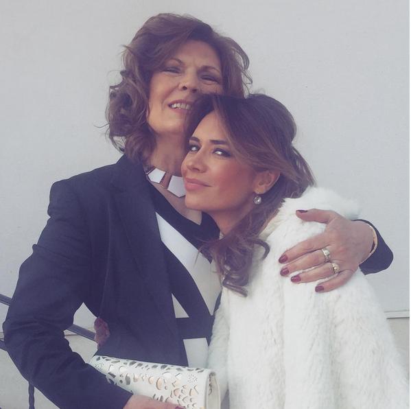 Magda Palimariu, alături de mama sa.