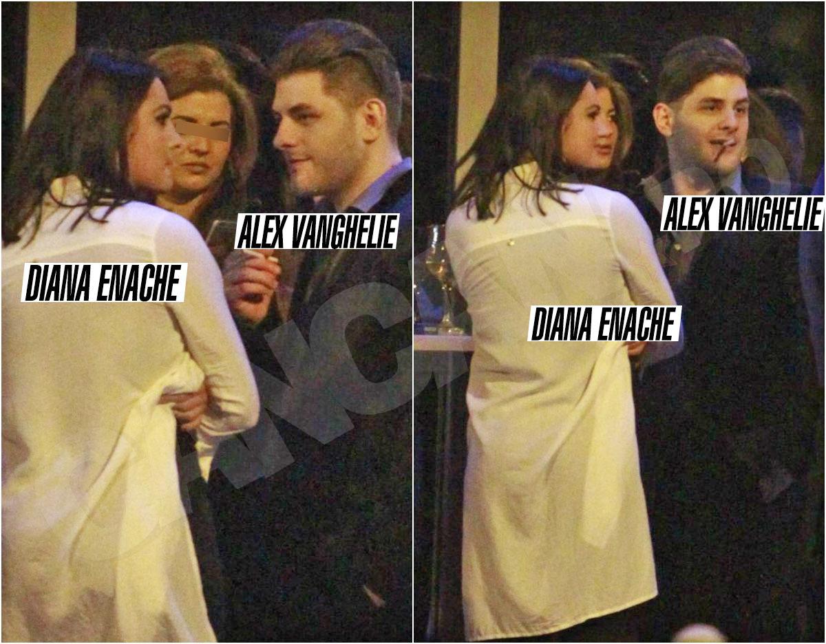 Diana şi Alex au stat minute-n şir împreună, afară