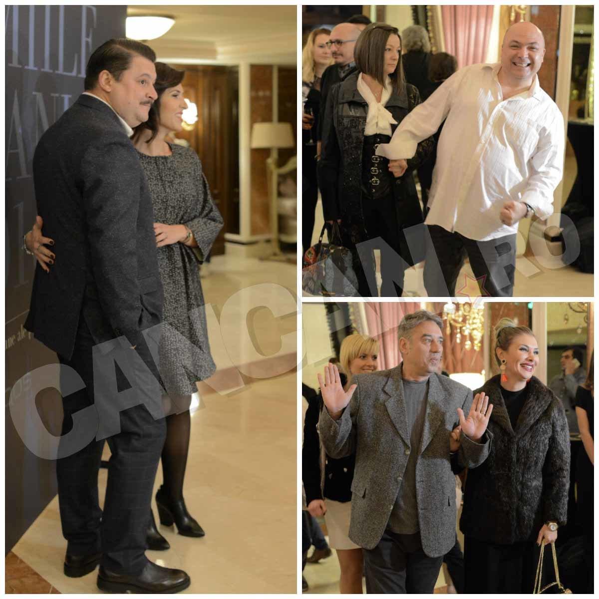 Bobonete, Chiorete şi Gogoaşe au venit la Premiile Tv Mania alături de soţiile lor.