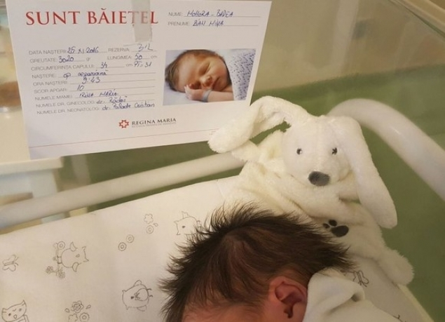 Bebeluşul a primit nota 10!