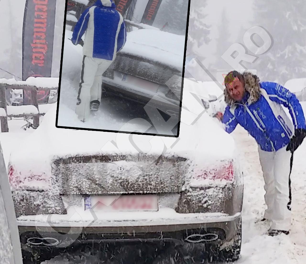 Blestemul zăpezii la milionari: când ninge prea mult nu mai vede nimeni că ai maşină de 200.000 de euro.