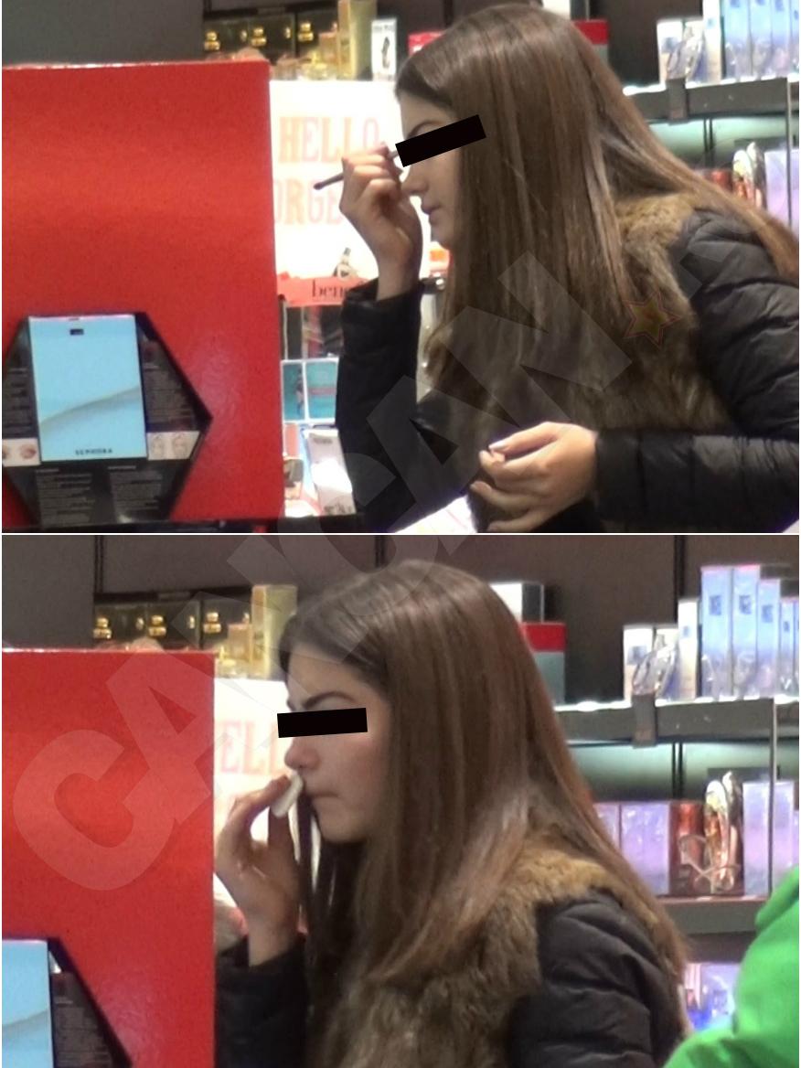 Adolescenta a mers în mall şi s-a machiat un sfert de oră
