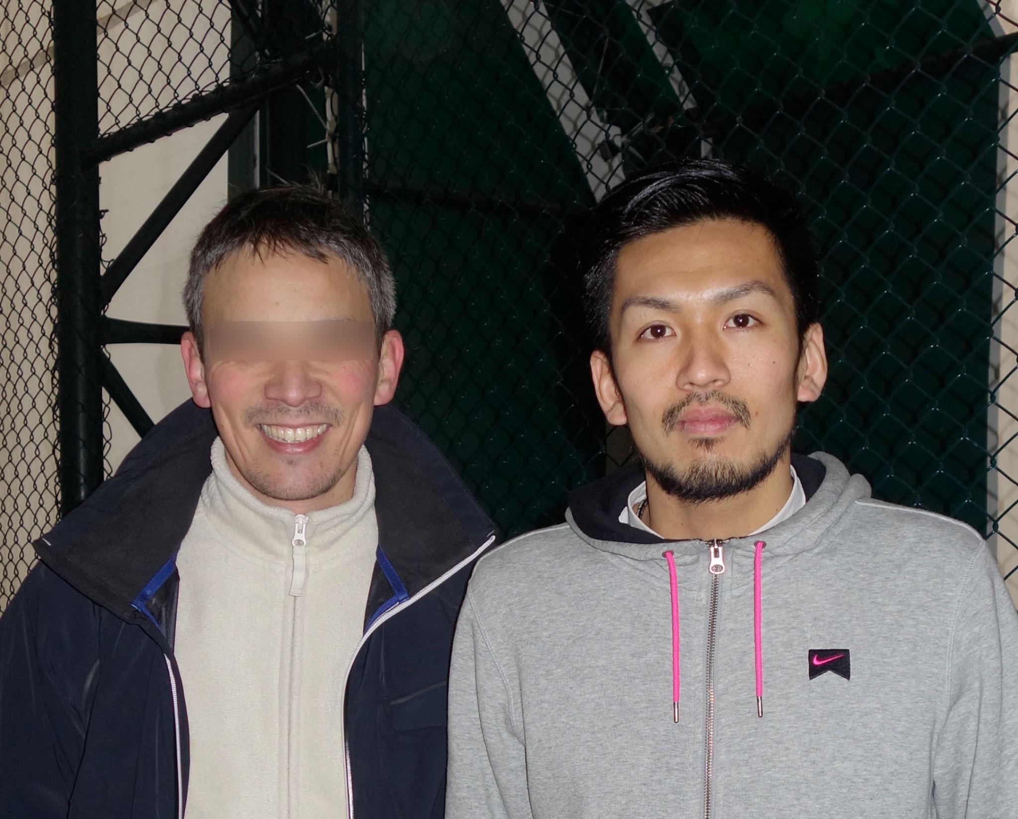 Fostul partener al Ruxandrei Şerban împreună cu fotbalistul Takayuki Seto de la Astra, conaţionalul său