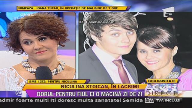 Niculina Stoican si fiul ei, Vlad