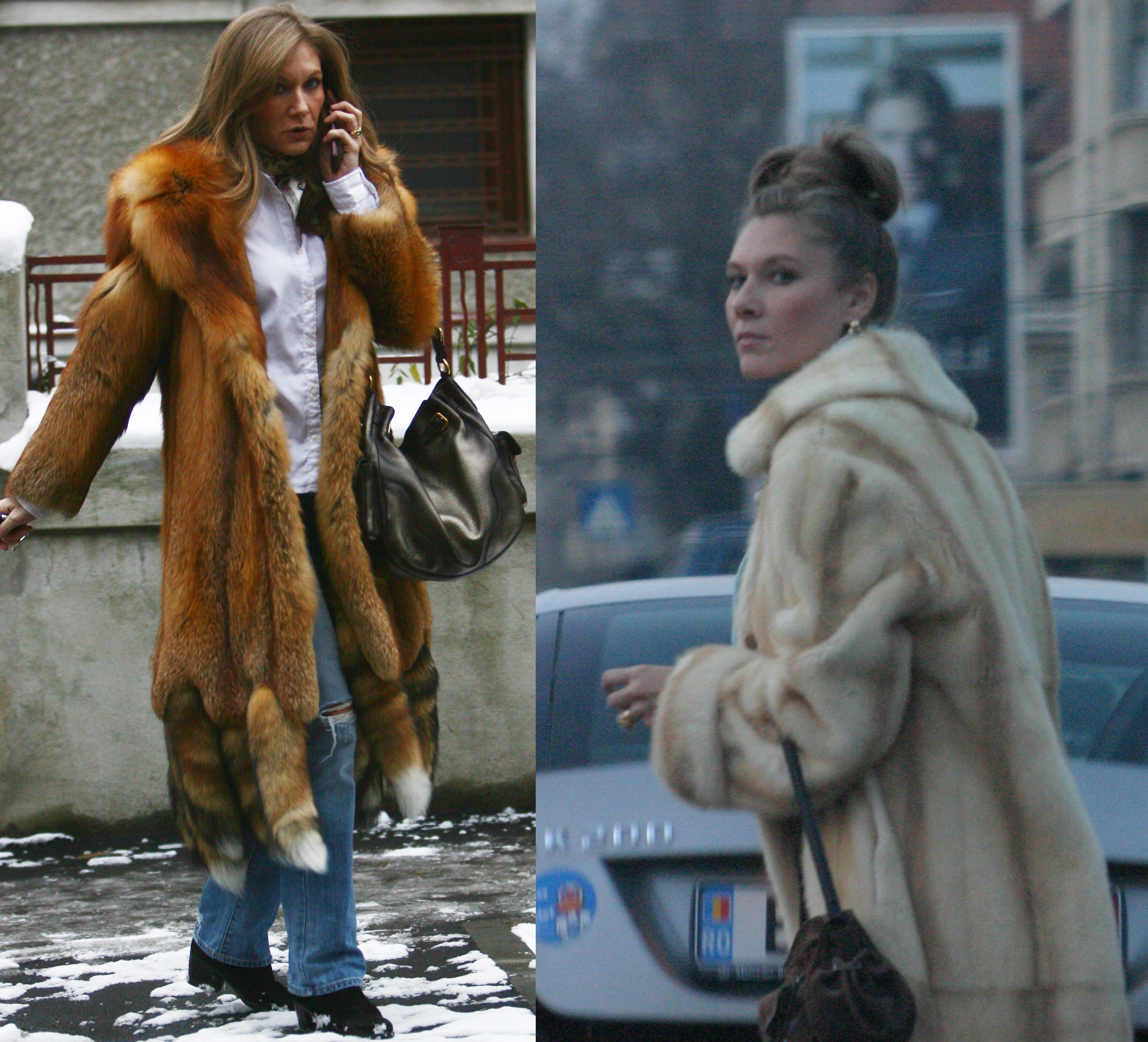 Creatoarea de moda are in garderoba multe haine de blana, de care este nedespartita in sezonul rece
