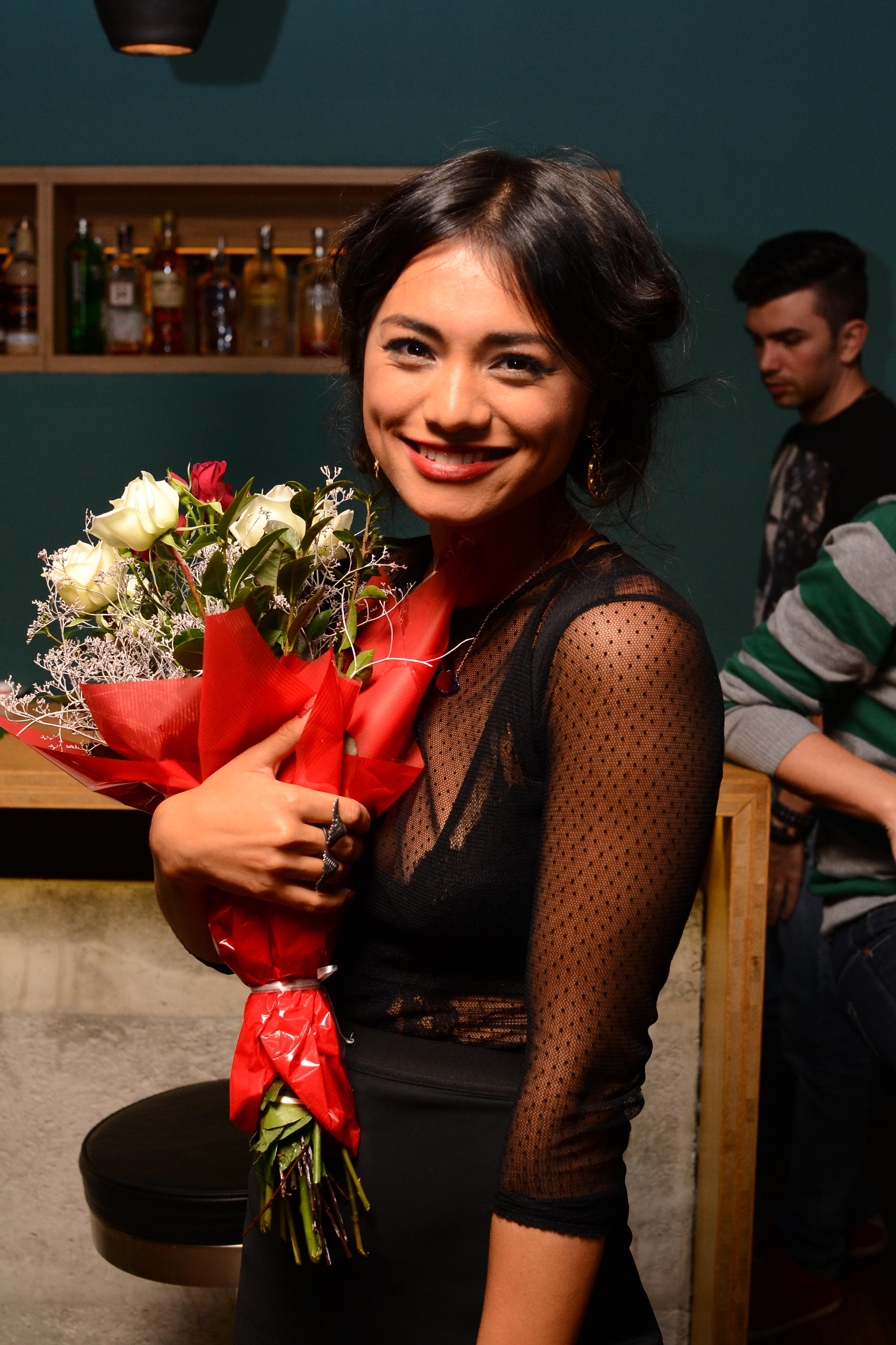 Sarbatorita a primit zeci de buchete de flori