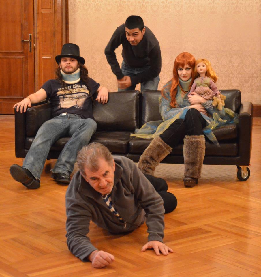 Scena din timpul spectacolului
