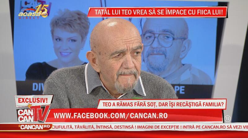 Tatăl lui Teo, declaraţii emoţionante la CANCAN TV pentru fiica lui: