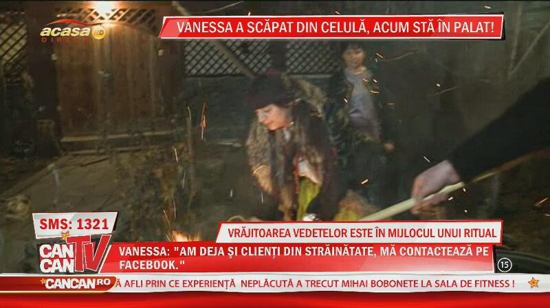 Vrăjitoarea Vanessa, în mijlocul unui ritual!
