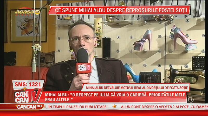 Mihai Albu nu regretă despărţirea de Iulia: