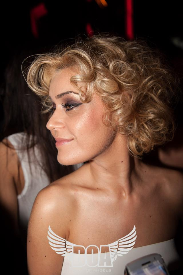 Blonda a fost de-a dreptul fascinata de numarul de striptease pe care l-au facut spaniolii