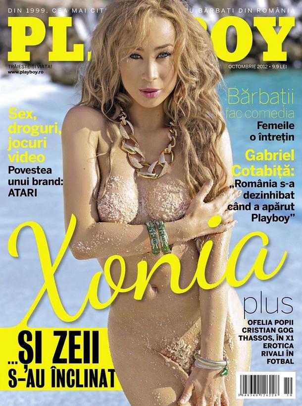 Xonia a pozat pentru Playboy, editia octombrie 2012