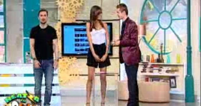 Dani Otil, alaturi de asistenta Cristina si Cristian Gog