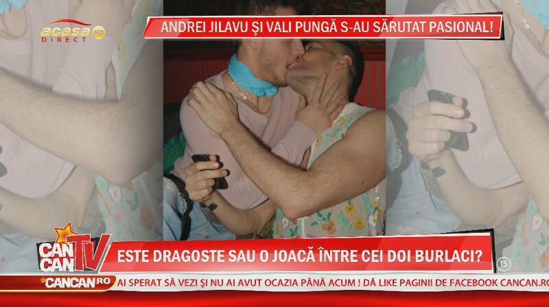 Andrei Jilavu si Vali Punga au fost fotografiati sarutandu-se patimas