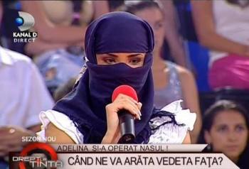 Adelina Pestritu a aparut si la TV mascata