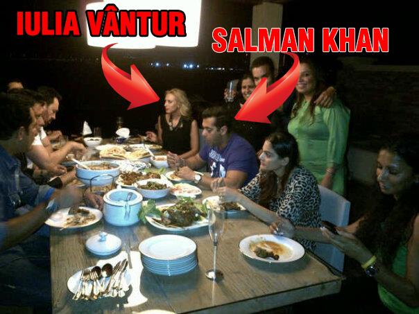 Iulia si Salman au fost fotografiati impreuna in India