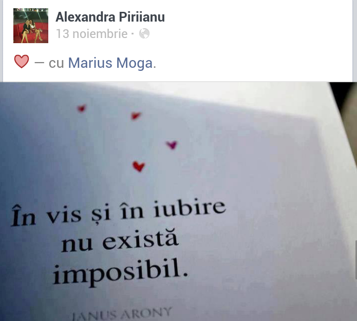 Tanara posteaza tot soiul de mesaje de dragoste