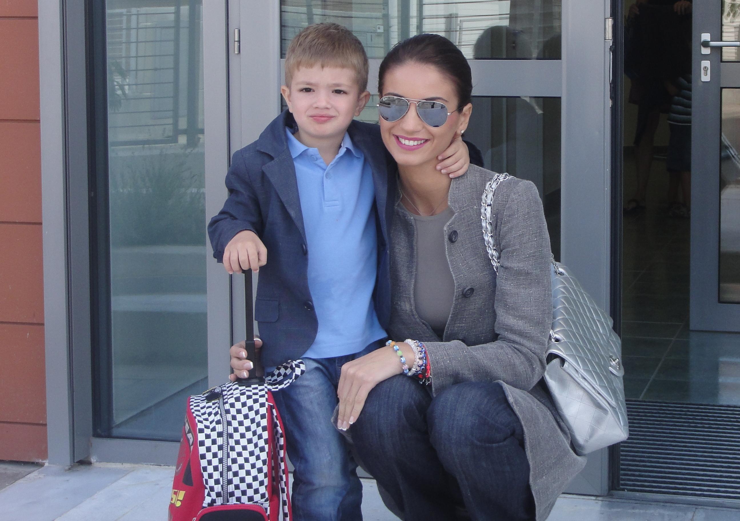 Geanina Ilies si fiul ei Patrick