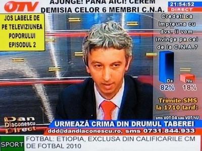 Dan Diaconescu, pe vremea cand avea emisiune la OTV
