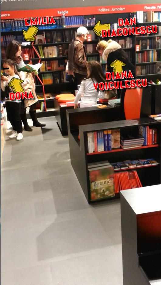 In urma cu o luna, Dan Diaconescu si-a dus sotia si fiica la o librarie, unde au zabovit cateva clipe