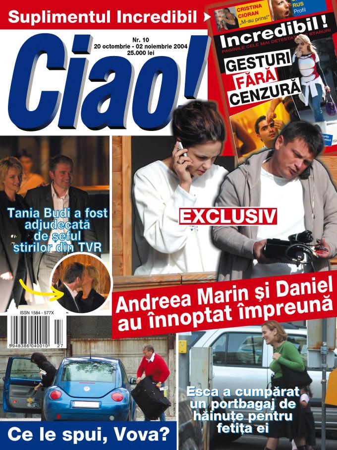 Andreea Marin si Daniel Stanciu, fotografiati impreuna de paparazzi Ciao! in 2004