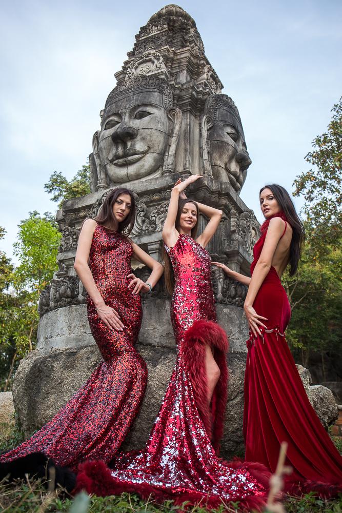 Modelele au realizat o sedinta foto tocmai in Cambodgia