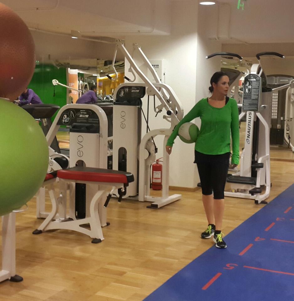 De cum au trecut Sarbatorile, Andreea Marin s-a intors la sala de fitness