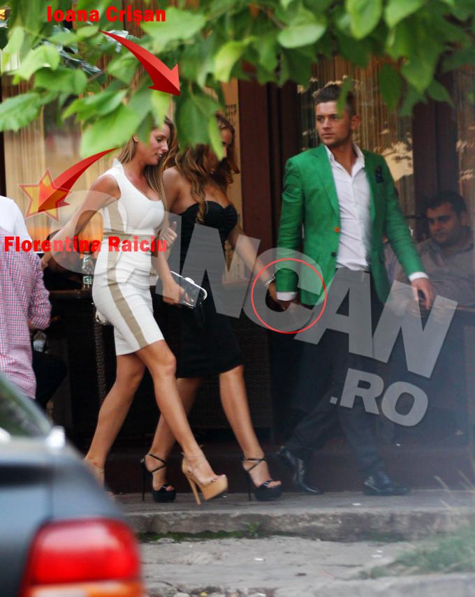 Vara trecuta, Costin a fost surprins de paparazzi CANCAN.ro alaturi de Florentina Raiciu si Ioana Crisan, intr-un club din Capitala