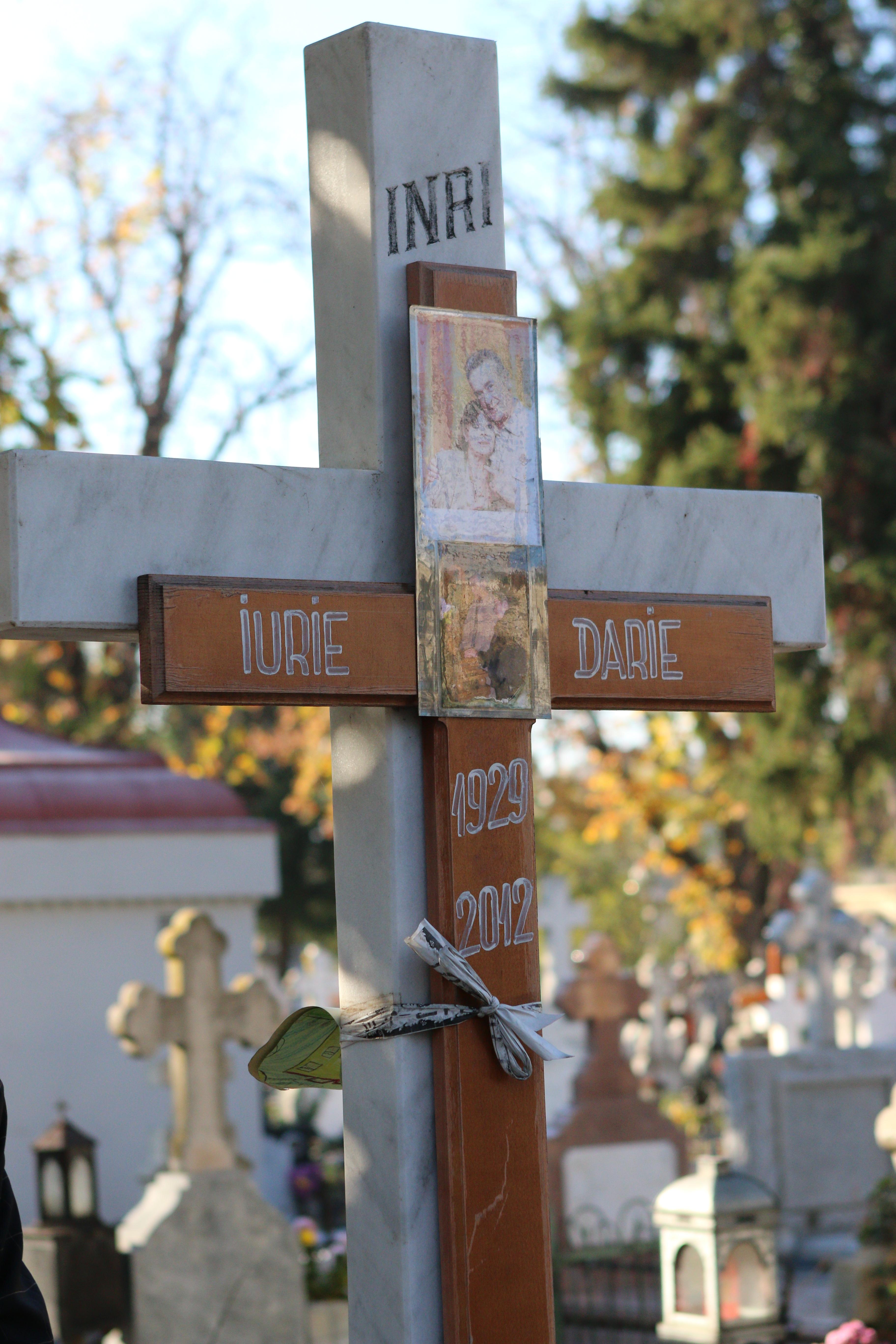 Iurie Darie este inmormantat la Cimitirul