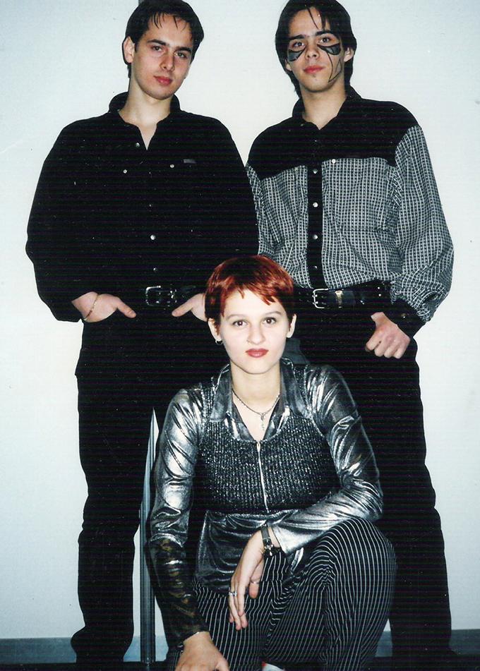 Ovidiu, Cezar si Oana - in 1996, anul in care a luat nastere Genius