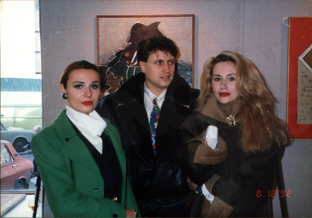 Dana, pe vremea cand era model, alaturi de Catalin Botezatu