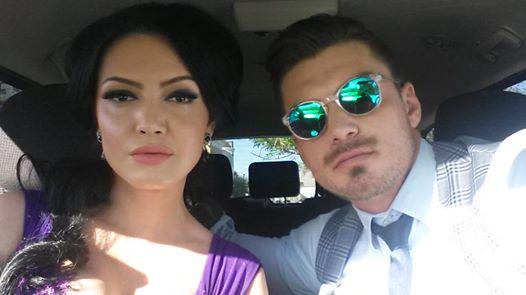 Andreea si Bogdan se distreaza de minune la filmari
