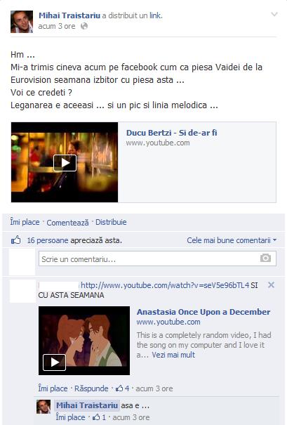 Acesta este mesajul postat de Mihai Traistariu pe Facebook foto: Facebook